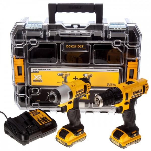 DeWALT DCK211D2T įrankių rinkinys