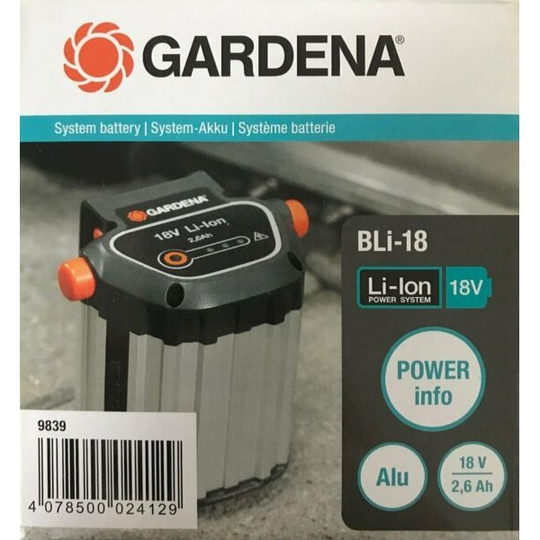 Naujas akumuliatorius Gardena Bli-18; 18 V; 2,6 Ah; Li-Ion