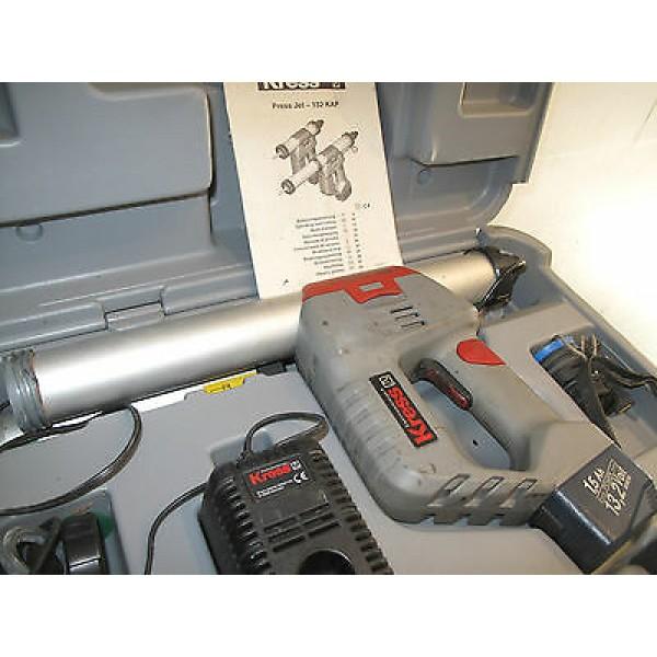 Akumuliatorinis silikono pistoletas Kress Press Jet 132 kap