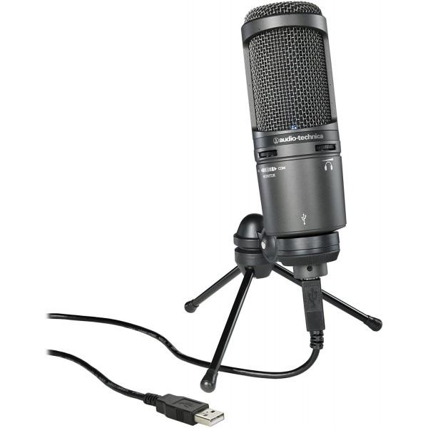 Naujas Audio-Technica AT2020USB+ studijinis kondensatorinis mikrofonas