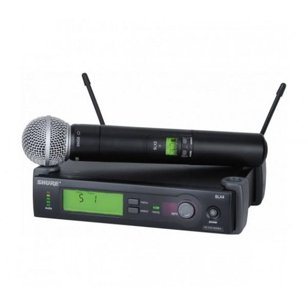 Nauja Shure SH SLX24E/SM58-L4E belaidžio mikrofono sistema