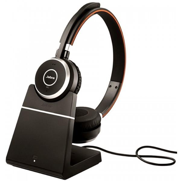 Naujos ausinės Jabra Evolve 65 MS Stereo + Charging Stand