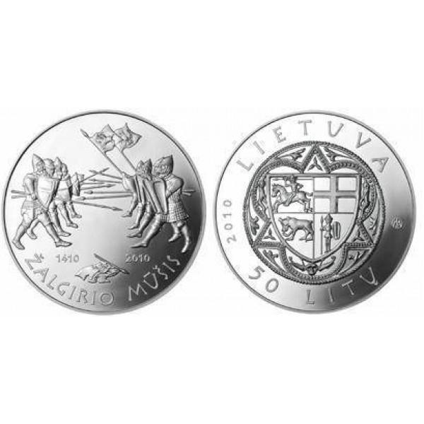 50 litų moneta, skirta Žalgirio mūšio 600 metų sukakčiai