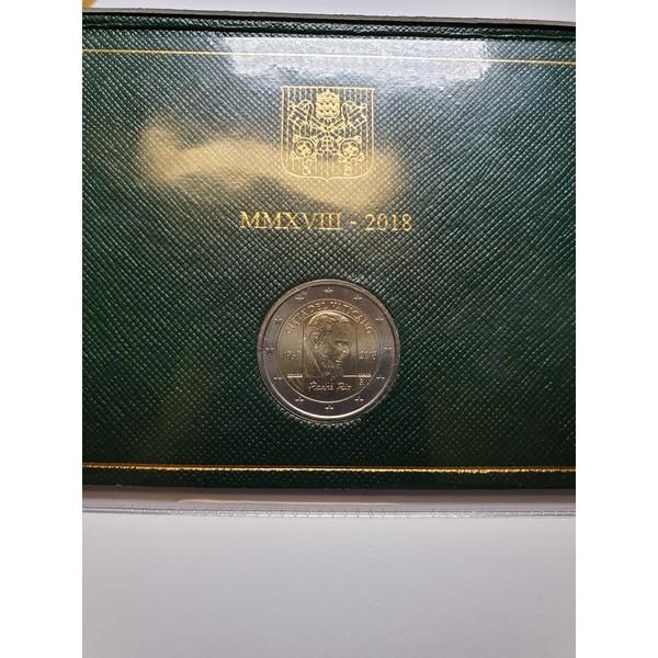 2 Eurų moneta 50-osioms popiežiaus Pijaus mirimo metinėms.