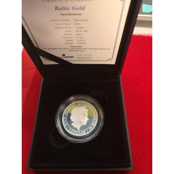 Sidabrinė 1 Dolerio moneta Queen Elizabeth II