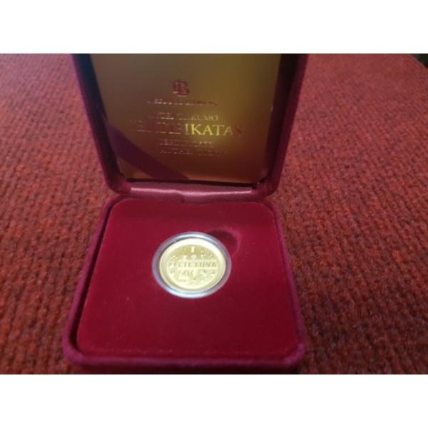 50 Eur auksinė moneta, skirta monetų kalybai LDK